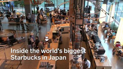 Take a look inside the world's biggest Starbucks, which has opened in Japan