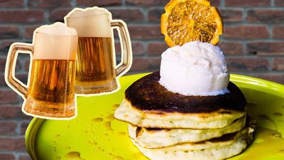 We tried pancakes made with beer