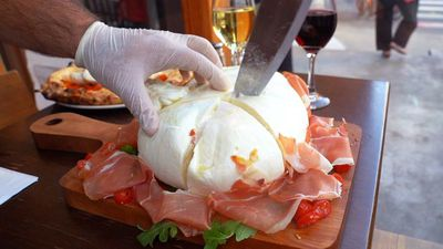 An NYC restaurant serves burrata with baby burratas inside