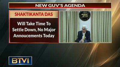 First brief after appointment of Shaktikanta Das