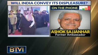 Will India convey its displesure to the Saudi Prince?