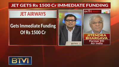 Jet Airways Gets Immediate Funding Support Of Rs 1,500 Cr