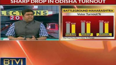 What are the reasons for sharp drop in Odisha turnout?