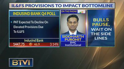 Induslnd Bank PAT Expected To Decline On Provisions Due To IL&FS