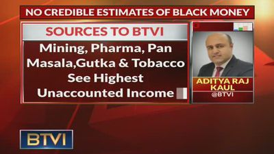 No credible estimates of Black Money: Sources