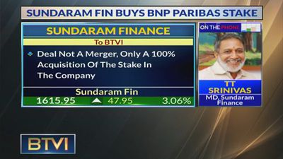 Sundaram Finance Acquires BNP Paribas Stake For Rs 1000 Cr