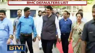 Maharashtra CM on BMC defaulters list