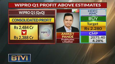 Don't See High Growth For Wipro In Next Few Quarters: Aniket Pande