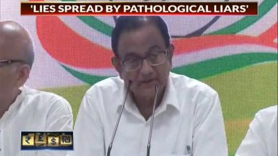 Chidambaram Makes Dramatic Appearance At Party HQ