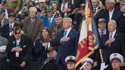 D-Day Remembrance, but for Trump, Partisanship Comes First