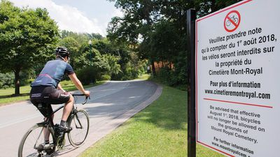 Cyclist says she's sad over bike ban in Mount Royal Cemetery