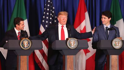 Trump references 'barbs' and 'abuse' at USMCA trade deal signing