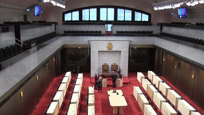 A look at the new temporary Senate chamber