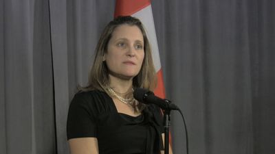 Freeland thanks 'allies' for support on Canadians held in China