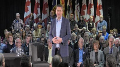 Andrew Scheer holds town hall in New Brunswick