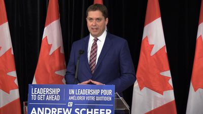 Andrew Scheer repeats call for Prime Minister Justin Trudeau to resign