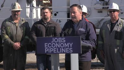 UCP Leader Jason Kenney speaks at launch of Alberta election