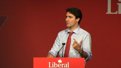Trudeau pumps up the crowd at Liberal convention