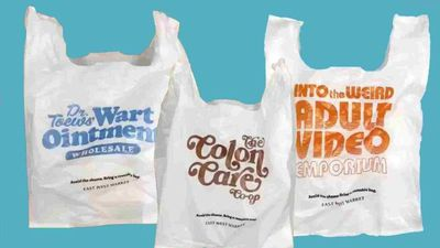Grocery store creates embarrassing plastic bags to prevent customer use