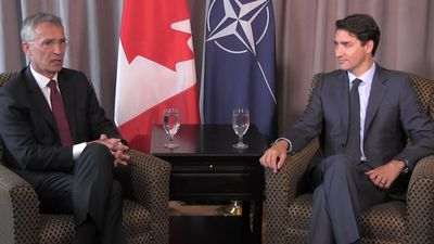 NATO Secretary General meets with Trudeau