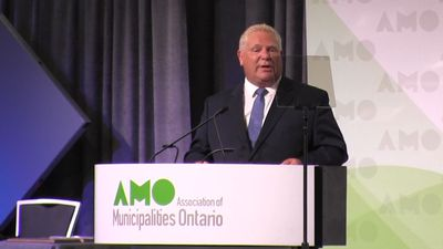 Doug Ford speaks at meeting of Ontario municipalities in Ottawa