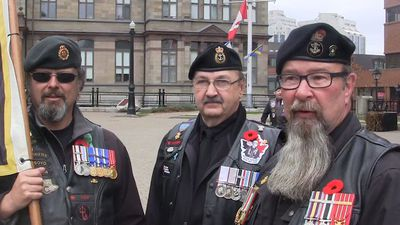 Amid ceremonies, veterans offer support