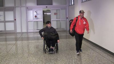Humboldt Bronco returns home from Thailand after spinal surgery
