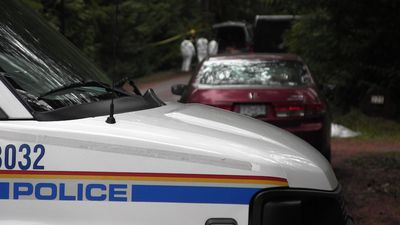 Investigators at Gabriola Island crash scene