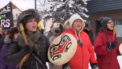 Natural gas pipeline opponents hold rally in Smithers, B.C.