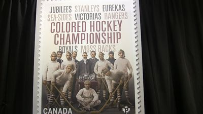 Commemorative stamp pays tribute to all-black hockey league in the Maritimes