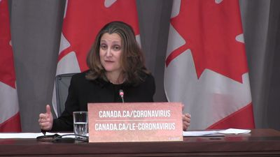 Despite gaps, economic-relief package for COVID-19 is biggest in history, Freeland says