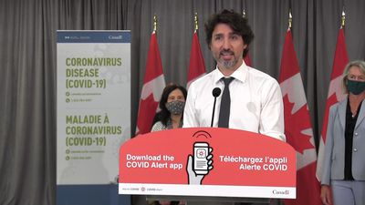 COVID-19 alert app now available in Canada: Trudeau