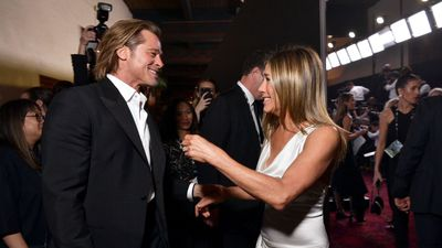 Brad Pitt and Jennifer Aniston reunite at SAG Awards