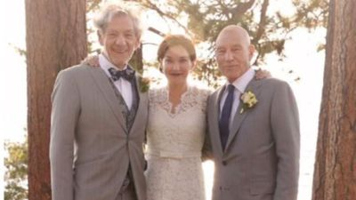 Patrick Stewart touched that his friend Ian McKellen has only officiated his wedding