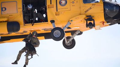 Amazing Video Shows Coast Guard Dog Helicopter Hoist Training!