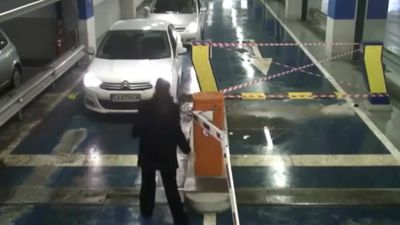 Angry driver at parking lot