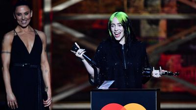 Billie Eilish breaks down during BRIT Awards acceptance speech