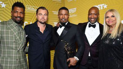Leonardo DiCaprio surprises Jamie Foxx at American Black Film Festival Honors