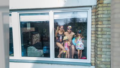 Photographer Uses Drone To Capture Heartwarming Images Of People Quarantined At Home