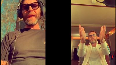 Gary Barlow and Howard Donald treat fans to virtual duet