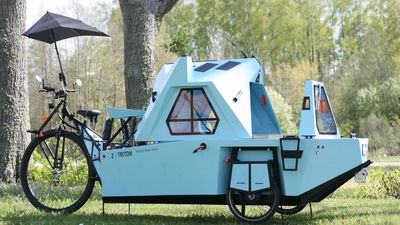 Perfect For Social Distancing Holidays: Tiny Camper Is A Boat, A House And A Tricycle