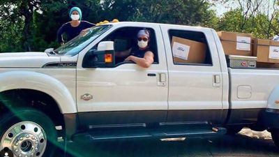 Matthew McConaughey and wife Camila deliver 110,000 masks to rural Texas hospitals