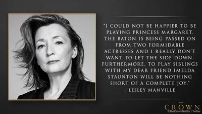 Lesley Manville so excited for Princess Margaret role in The Crown final season