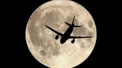 Are These Aircraft Really Flying So Near The Moon & Sun?