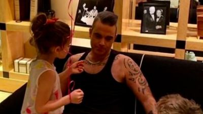 Robbie Williams and daughter spooked by creepy home