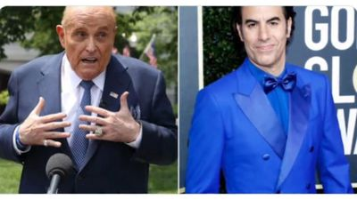 Sacha Baron Cohen has police called on him as Rudy Giuliani prank backfires