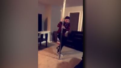 Pole dancing fail!