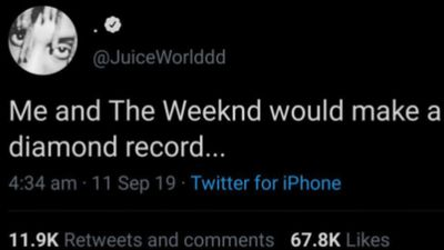 The Weeknd teases posthumous Juice WRLD collaboration