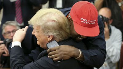 President Trump denies involvement in Kanye West's rival election campaign