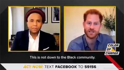 Prince Harry insists it's down to every single person to act against racial injustice